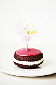 Chocolate Whoopie pie with Easter decoration