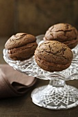 Chocolate Whoopie Pies filled with chocolate cream