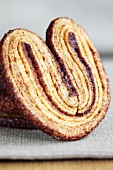 'Schweinsöhrchen' (Pig's ears pastry) close up