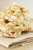 Peanut-caramel bars