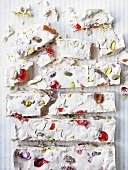 Nougat with candied fruits and nuts