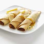 Lemon crepes with syrup