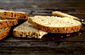 Slices of seeded bread