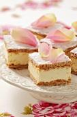 Kremowka (puff pasty slices with vanilla pudding and cream, Poland)