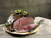 Roast elk with morel mushrooms (Sweden)