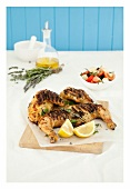 Grilled lemon and lavender chicken