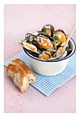 Mussels with chermoula paste