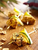 Chicken breast with peanuts and pineapple