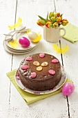 Chocolate cheese cake for Easter