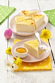 Lemon cheesecake for Easter