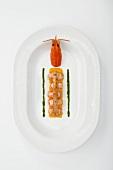 Crayfish with orange sauce