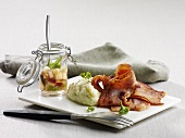 Hickory-smoked bacon with apple compote