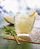 Honeydew melon granita