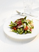 Asparagus salad with tomatoes