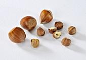 Hazelnuts, whole and shelled