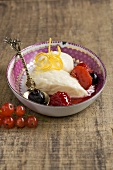 Quark mousse with wild berry ragout (South Tyrol)
