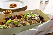 Sarago al forno (Meerbrasse aus dem Ofen, Italien)