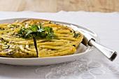 Frittata di maccheroni (maccheroni omelette, Italy)