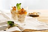 Crema di ricotta all'albicocca (ricotta cream with apricots)