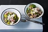 Fagioli con la finocchiona (bean salad with fennel salami)