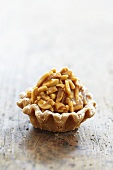 An almond tartlet