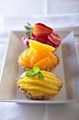 Three different fruit tartlets