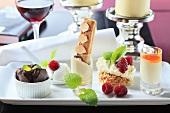 Dessert variations on a platter