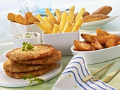 Potato cakes, potato wedges, chip and croquettes (frozen produce)