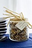 Homemade muesli as a gift