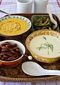 Jerusalem artichoke soup and pumpkin soup