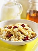Millet porridge with cranberries and almonds