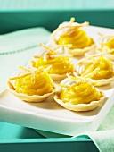 Mini tartlets with orange curd