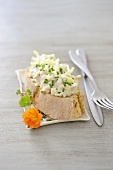 Bran bread with chive quark