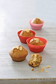 Mini spiced muffins with slivered almonds