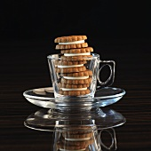 Hazelnut biscuits in an espresso cup