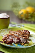 Japanese chicken kebabs with tamarind and ginger