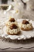 Montblanc tartlets with chestnut cream