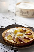 French sausage and potato tart