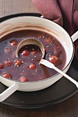 Sour cherries in game sauce