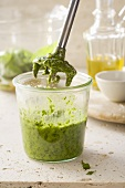 Pesto with a hand mixer