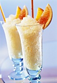 Orange and grapefruit granita
