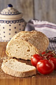 Farmhouse bread with tomatoes