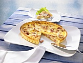 Quiche Lorraine, a piece removed