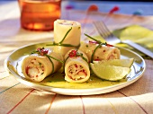 Cannelloni with crab and limes