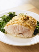 Cod fillet with a nut crust