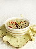 Chanterelle soup with coconut milk (Thai style)