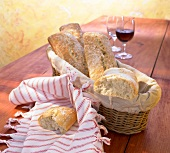 Ciabatta in a bread basket