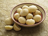 Macadamia nuts in a dish