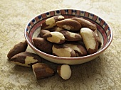 Brazil nuts in a dish
