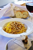 Tajarin al tartufo (fresh egg pasta with white truffles)